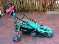 QUALCAST LAWNMOWER AND STRIMMER - GOOD WORKING ORDER