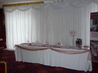wedding / event fibre optic backdrop curtain