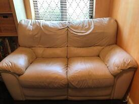2 seater reclining leather sofa