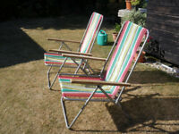 RETRO, 1960s FOLDING GARDEN CHAIRS £10 pair
