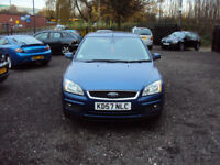 FORD FOCUS 1.6 GHIA 5DR HATCHBACK PETROL LOW MILES 2KEYS LONG MOT F.S.H AUX CRUISE EXTRAS
