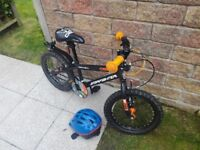 Orange and Black Apollo Starfighter Children's Bicycle for sale with Helmet