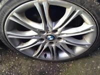 Bmw 3 Series 320Ci Coupe Saloon E46 E36 18 Inch MV2 Alloy Wheels with good tyres. 225/40/18 Alloys.