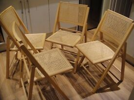 Set of 4 folding John Lewis dining chairs (used) - £45 for the lot