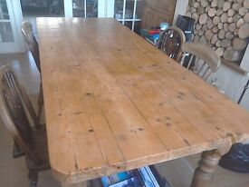 Beautiful solid pine old table
