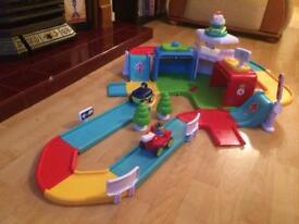 Whizz World emergency rescue racing track