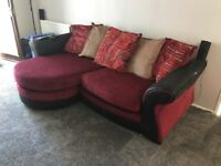 4 seater sofa and armchair for sale (2 years old)