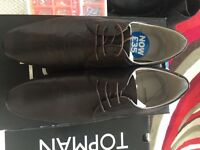 Brand New Topman Brown Leather shoes. uk size 9