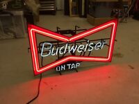 Budweiser - Neon Sign - Bar sign