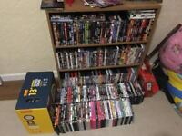 Roughly 450 dvds