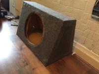 "12"" Subwoofer enclosure box custom made"