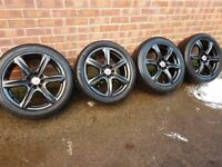 "17"" 4x100 & 4x108 Wolfrace Alloy wheels"