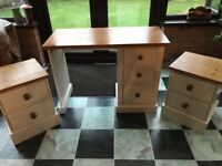 Dressing table/desk and bedside cabinets