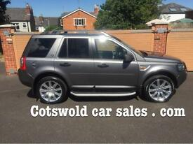07-56 landrover freelander 2 td4 hse 5 dr 1 owner 8 services 59000 miles pristine very high spec !!!