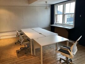25+ Desks for rent - Warehouse style office in Hoxton. Available immediately!