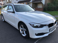 Clean example BMW 318d Estate, Mineral White paint