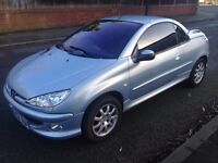 Peugeot 206 cc Automatic, with 2keys FULL SERVICE HISTORY and 11 Months MOT