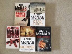 Andy McNab Books x 5 brand new