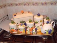 Full set of ceramic kitchen ware containers