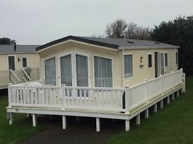 Static caravan for sale with full decking in Newquay Cornwall near to beaches family friendly park