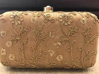 Evening Gold Clutch Bag