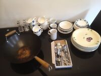 Crockery and cutlery FREE to a good home