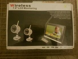 Wireless baby 7.0 LCD monitoring camera