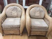 Conservatory furniture with sofa seats and matching table chair