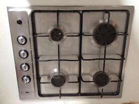 Integrated stainless steel gas hob in full working order