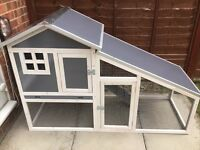 Rabbit Ark Hutch in Grey/White 'FULLY ASSEMBLED'