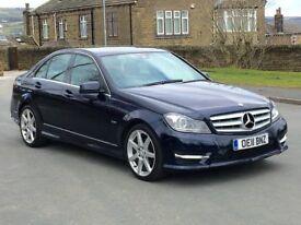 2011 11 Mercedes Benz C220 CDI AMG Sport Semi - Auto Blue Effciency *FACELIFT* FULL SERVICE HISTORY