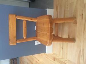 Solid pine chair set. Rustic Pine log collection
