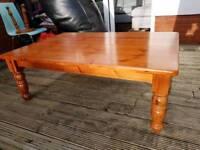 Large Oregon Pine Coffee Table.