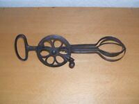 "Antique 'Dover' American egg beater. 100 years old - still working ! 10"" long"
