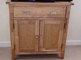 Deerbourne Compact Light Oak Sideboard with Drawer, Collect SA48 8JZ