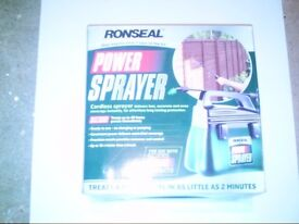 RONSEAL POWER SPRAYER (WOOD SPRAYER FOR FENCES AND SHEDS)