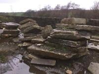 large rockery Yorkshire stone