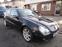 2005 Mercedes C220cdi coupe diesel automatic high spec leather seats history lovely car