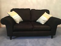 Sofa, 2 seater, black, excellent condition