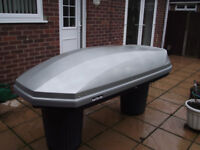 Roof Box 580 Litre, silver (Halfords)