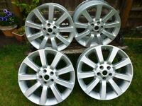 "RANGE ROVER 20"" SUPERCHARGED ALLOYS T5 TRANSPORTER / BMW X5 AND MORE."