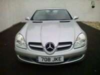 MERCEDES SLK 200 1.8 CONVERTIBLE 21000 miles in SILVER MOT`D to APRIL 2019 SUPERB CONDITION