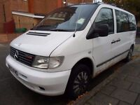 MERCEDES BENZ VITO 2.1 CDI TRAVELINER*** 8 SEATER MINIBUS***DIESEL***MANUAL***ONLY 2695***