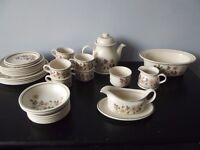 Vintage Marks And Spencer Autumn Leaves Items Plates Tea Set Etc