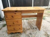 Solid wood desk for sale in very good condition