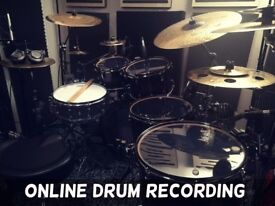 REMOTE ONLINE DRUM RECORDING   live drum tracks on your songs