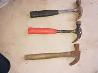 Claw Hammers 2 Pounds Each x 3