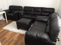 Sofa DFS New Force set of 4 - black leather