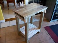 Rustic style kitchen island