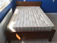 Warren Evans Trinity Pine Double Bed 4'6 & Matress